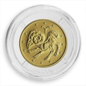 Золотая монета знака зодиака Овен