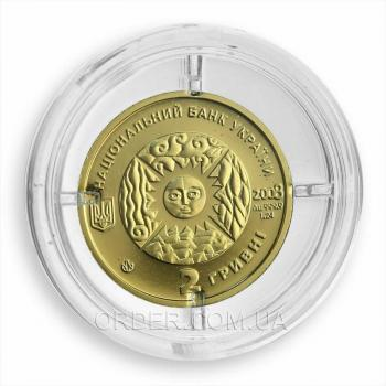 Золотая монета знака зодиака Рак