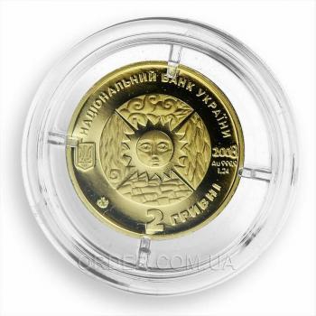 Золотая монета знака зодиака Весы
