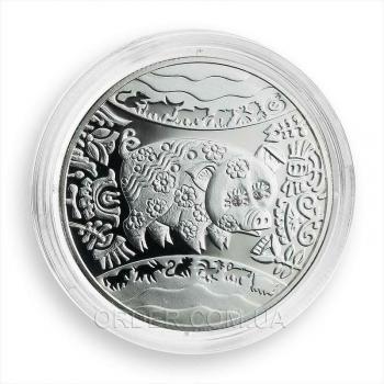Серебряная монета Год Свиньи (Кабана)