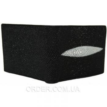 Портмоне из кожи ската (ST 65 Black)