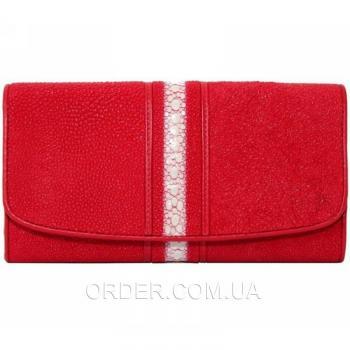 Женский кошелек из кожи ската (ST 52 RS Fire Red)