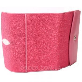Женский кошелек из кожи ската (ST 64 Pink)
