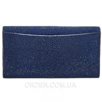 Женский кошелек из кожи ската (ST 52 Dark Blue)