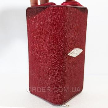 Женский кошелек из кожи ската (ST 11 Burgundy)