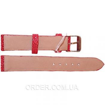Ремешок для часов из кожи ската (STWS 04 SA Red)
