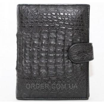 Мужское портмоне из кожи крокодила (ALMP 006H Black)