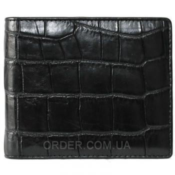 Портмоне из кожи сиамского крокодила (ALM 03 EX Black)