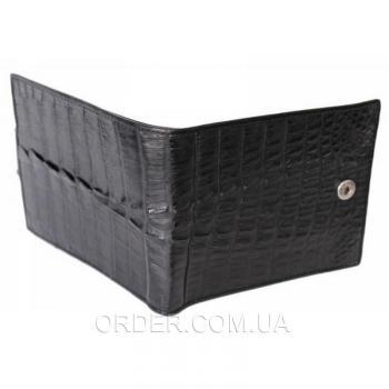Мужское портмоне из кожи крокодила (ALM 100T Black)