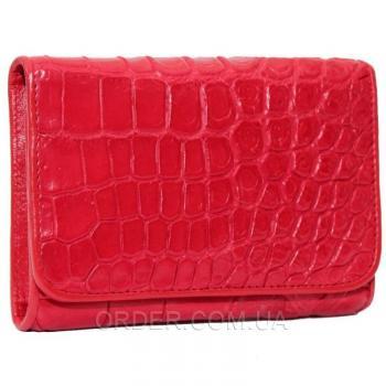 Женский кошелек из кожи крокодила (CM 63 B Fire Red)