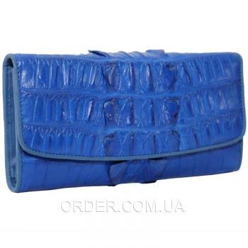 Женский кошелек из кожи крокодила (PCM 03 BT Ocean Blue)