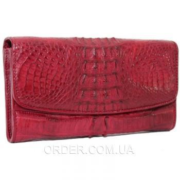Женский кошелек из кожи крокодила (PCM 03 ST Burgundy)