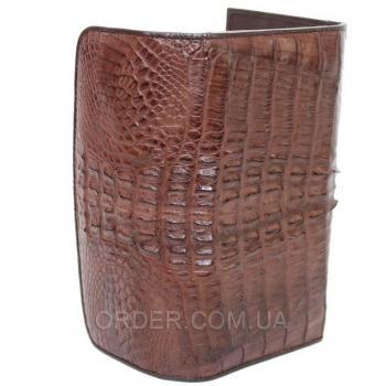 Женский кошелек из кожи крокодила (PCM 03 ST Brown)