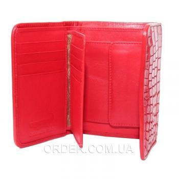 Женский кошелек из кожи крокодила (PCM 63 B Fire Red)