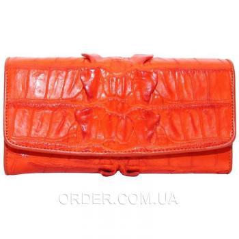 Женский кошелек из кожи крокодила (PCM 03 BT Orange)