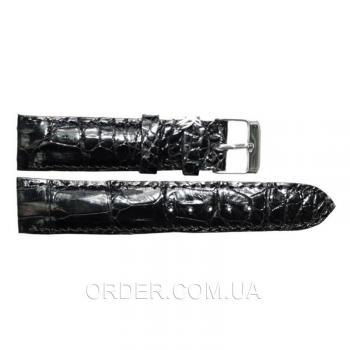 Ремешок для часов из кожи крокодила (ALWS 01 Black)