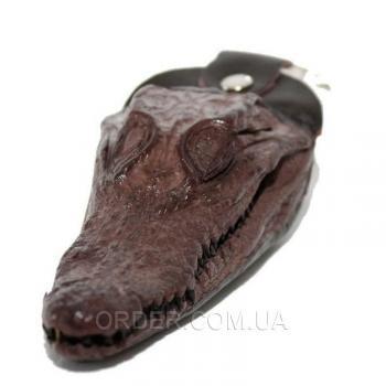 Брелок из головы крокодила (ALH 01 Brown)