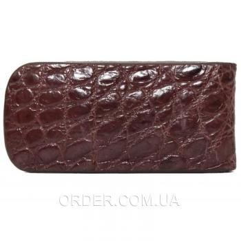 Зажим для купюр из кожи крокодила (NTAM 01 Brown)