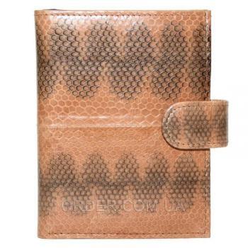 Мужской кошелек из кожи морской змеи (SN 76 Tan)
