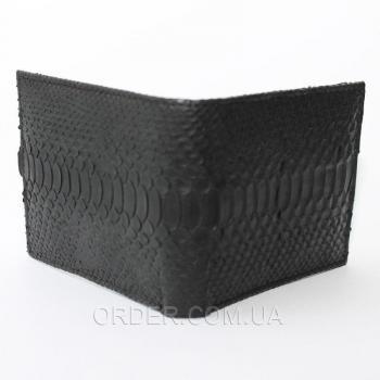Портмоне из кожи питона (PT 03B Black)