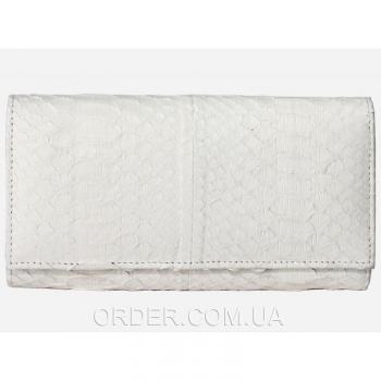 Женский кошелек из кожи питона (PT 53 White)