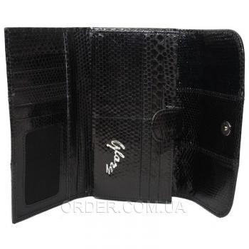 Женский кошелек из кожи морской змеи (SN 52 Black)