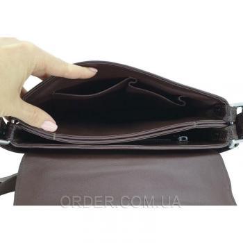 Мужская сумка из кожи крокодила (DCM 1636 Belly Brown)