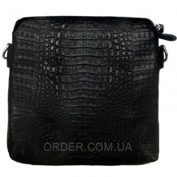 Мужская сумка из кожи крокодила (DCM 9021 Black)