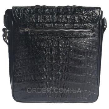 Мужская сумка из кожи крокодила (DCM 1606 Black)