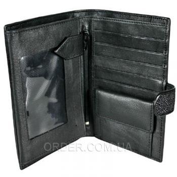 Мужской кошелек из кожи ската (STP004 Black)