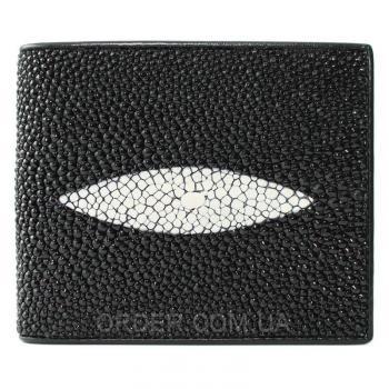 Мужской кошелек из кожи ската (ST 07 Black)