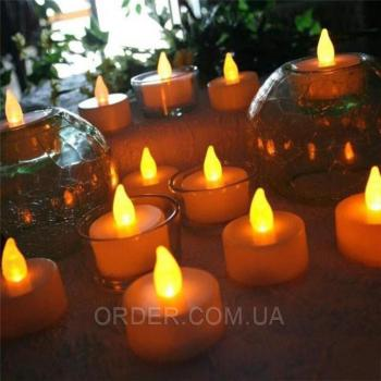 Светодиодные led свечи чайные набор 12шт.