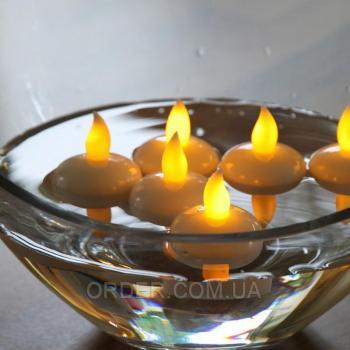 Светодиодные плавающие led свечи чайные набор 12шт.