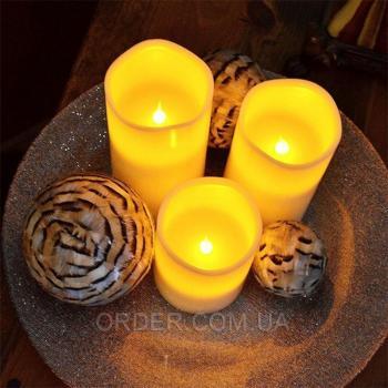 Светодиодные led свечи с дистанционным управлением (набор 3 шт.)
