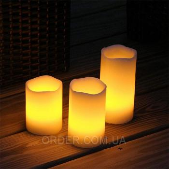 Светодиодные led свечи слоновая кость (набор 3 шт.)