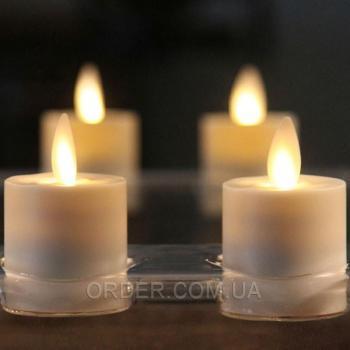 Светодиодная свеча чайная с имитацией пламени FL44 (набор 6 шт.)