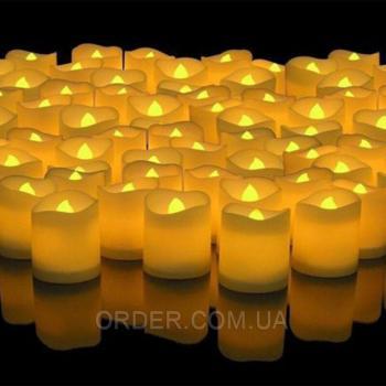 Светодиодные led свечи чайные оплавленные Y3947 (набор 12 шт.)