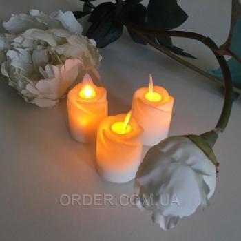Светодиодные свечи чайные с имитацией пламени RS44 (набор 6 шт.)