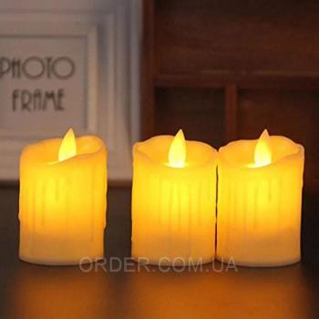 Светодиодная свеча с имитацией пламени (набор 3 шт.) R5-0104