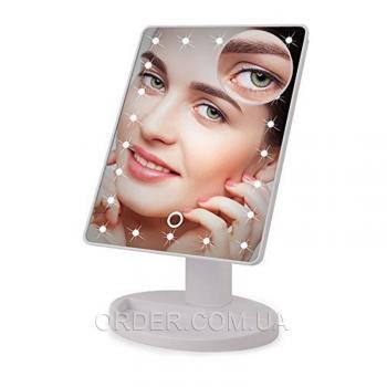 Зеркало для макияжа с подсветкой (FM22X10 white)