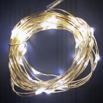 Светодиодная гирлянда с USB и пультом ДУ (5 метров) WARM