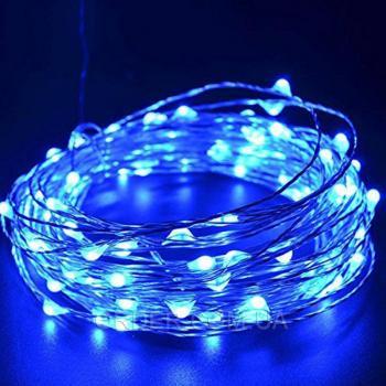Светодиодная гирлянда с USB и пультом ДУ (5 метров) BLUE