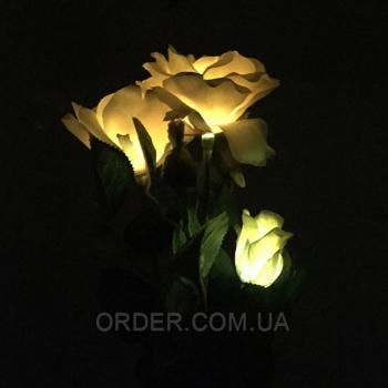 Светодиодный светильник на солнечной батарее Rose yellow