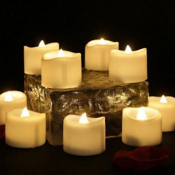 """Светодиодные свечи """"чайные оплавленные"""" (набор 12 шт.)"""