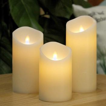 Светодиодные свечи с имитацией пламени (набор 3 шт.)