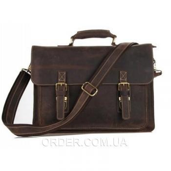 Мужской кожаный портфель TIDING BAG (7205R)