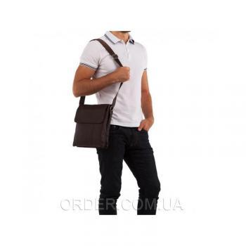 Коричневый кожаный мессенджер Tiding Bag (A25-064C)