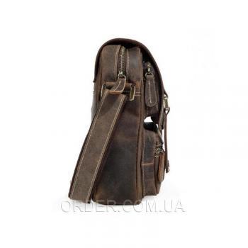 Коричневый кожаный мужской мессенджер Tiding Bag (T1172)
