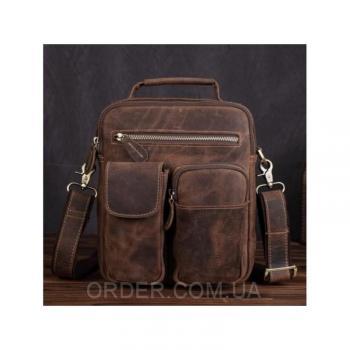 Коричневый кожаный мужской мессенджер Tiding Bag (t1171)