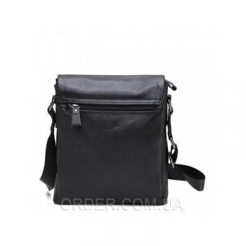 Черный кожаный мессенджер Tiding Bag (A25-8871A)